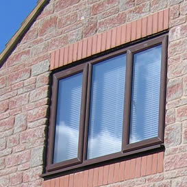 Casement windows in rosewood