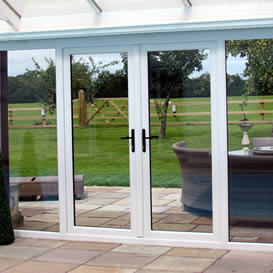 French door of conservatory