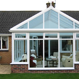 Gable fronted conservatory in uPVC