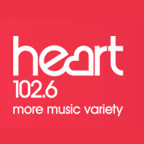 Heart FM logo: Majestic Designs sponsors the weather on Heart's Somerset station