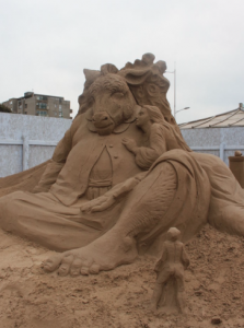 Sand sculptures in Weston super Mare
