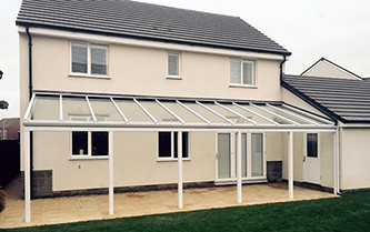 Complete veranda installation in Weston-super-Mare