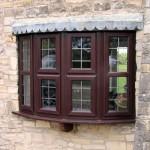 Lead pattern bow window, Wellington, Somerset