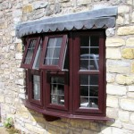 UPVC Bow Window Rosewood Glastonbury