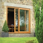 Oak Effect UPVC Patio Door Street