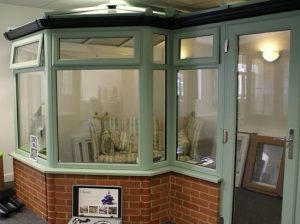 chartwell green conservatory in show room