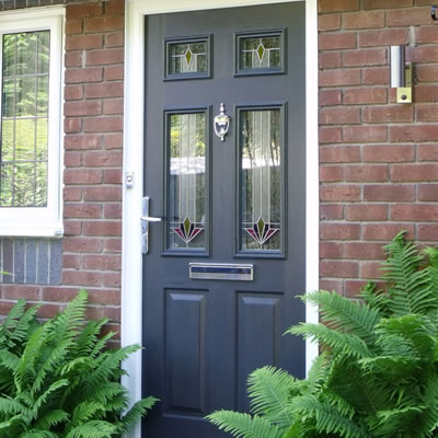 Black composite door installation