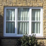 Double glazed windows in white uPVC