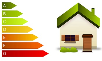 diagram of energy efficiency rating and home