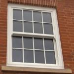 White sliding sash windows