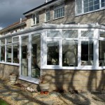 Victorian conservatory built using uPVC and brick
