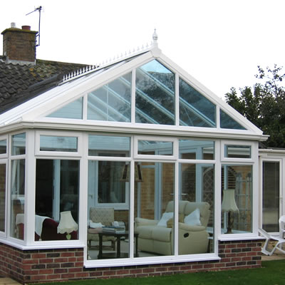 External view of gable conservatory