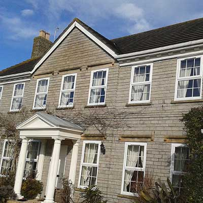 White Casement Windows in Sub Mendip