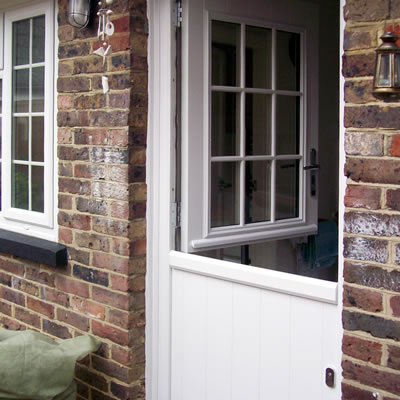 White Stable Door Installation