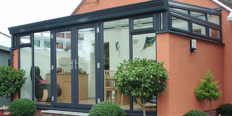Black aluminium bespoke conservatory