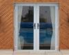 Grey uPVC French Door