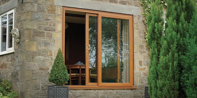 Attractive Wood Effect Upvc French Doors Part - 10: Oak Effect UPVC Patio Door