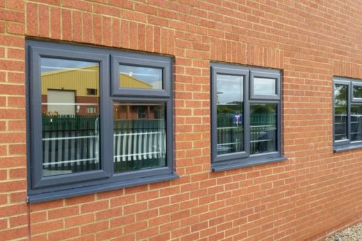 Anthracite grey uPVC casement windows
