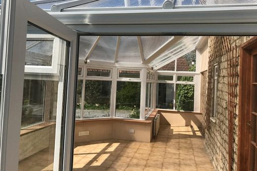Interior view of a bespoke uPVC conservatory