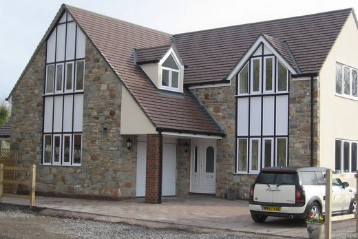 White uPVC bespoke windows installation