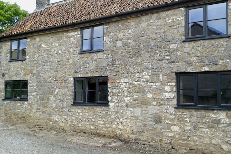 Black Casement Windows : Upvc casement windows in cheddar somerset majestic designs