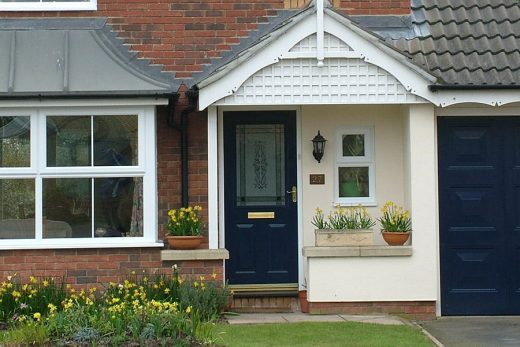 Dark blue composite door