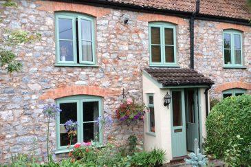 Chartwell green uPVC casement windows