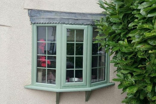 Chartwell green uPVC bow window