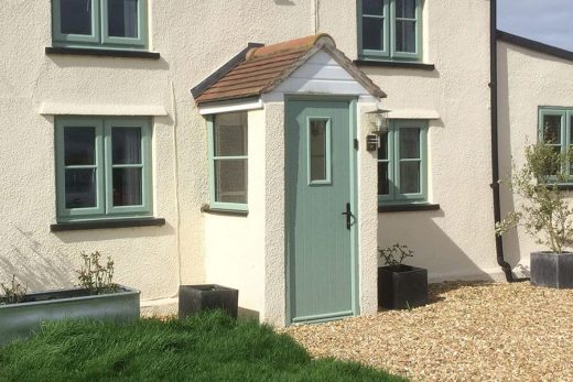 Chartwell green composite entrance door installation