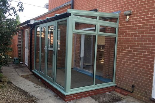 Chartwell green uPVC lean to conservatory