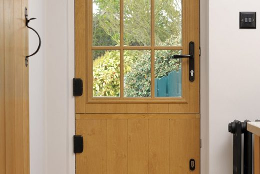 Irish oak effect stable door
