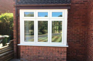 Cream uPVC bay window