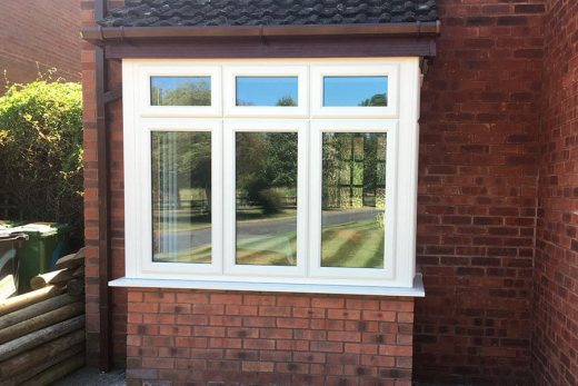 Cream uPVC bay window