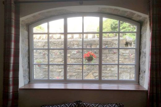 Interior view of a bespoke uPVC window