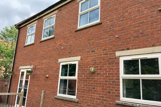 Cream uPVC casement windows
