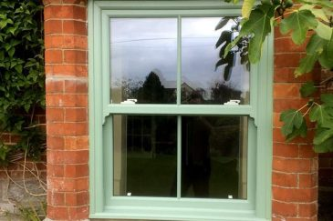 Chartwell green sliding sash window