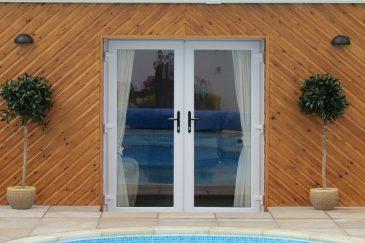 Grey uPVC french doors