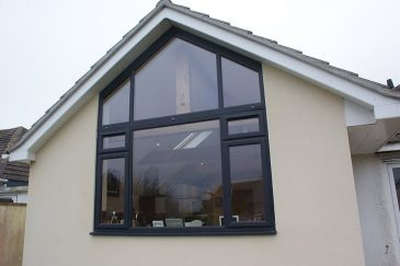 Bespoke anthracite grey Gable casement window