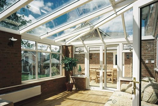White uPVC lean to conservatory interior