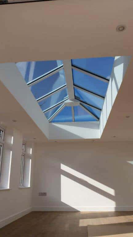 Interior of a bespoke Livin Room lantern roof
