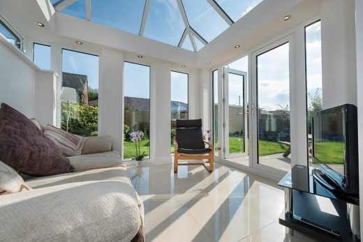 White uPVC LivinRoom with french doors