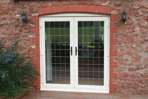 White uPVC leaded french door