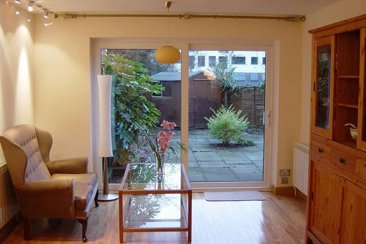 Interior view of a uPVC sliding patio door