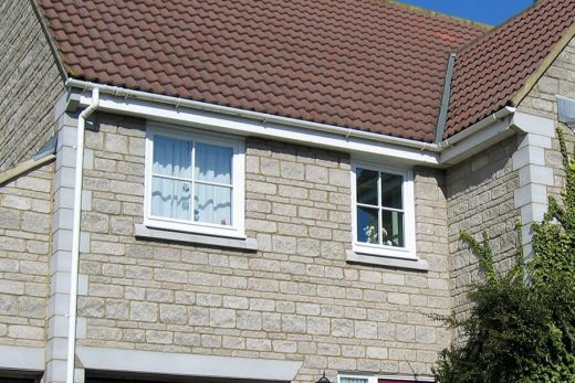 White uPVC roofline installation