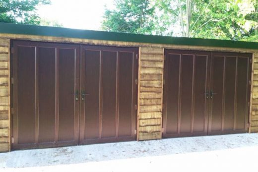 Rosewood effect french garage doors