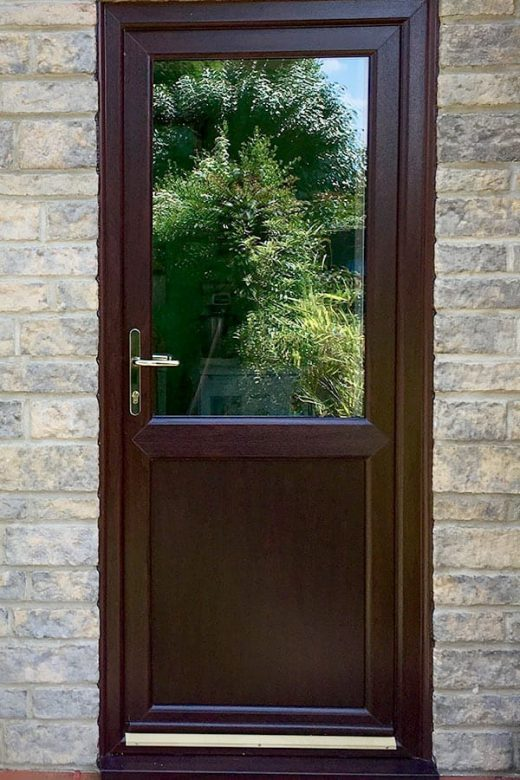 Rosewood effect uPVC door