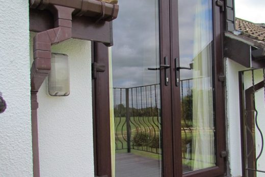 Rosewood effect uPVC french doors