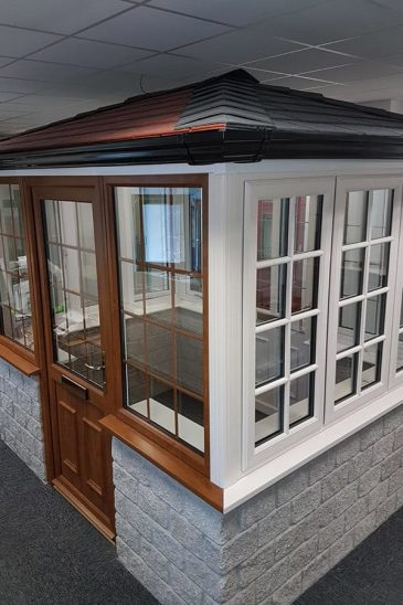 Majestic Designs tiled roof conservatory and windows