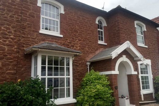 White uPVC Georgian casement windows
