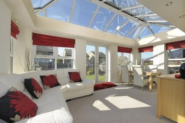 White uPVC LivinRoom conservatory